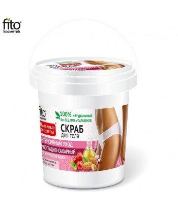 """Naturalny Scrub do ciała """"Intensywna pielęgnacja"""" winogronowo-cukrowy, 155ml"""