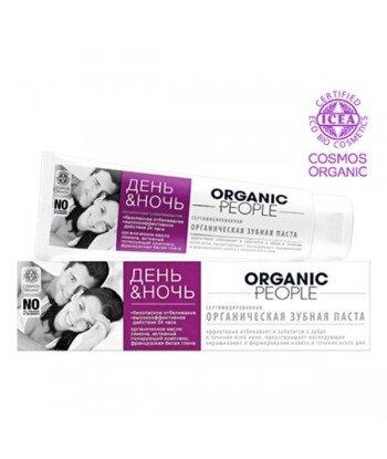 Organic People - organiczna pasta do zębów na dzień i noc - bezpieczne wybielenie przez całą dobę