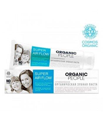 Organic People - organiczna odświeżająca pasta do zębów - bezpieczne wybielenie w 14 dni