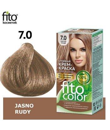 Farba do włosów 7,0 JASNO RUDY - FITO COLOR