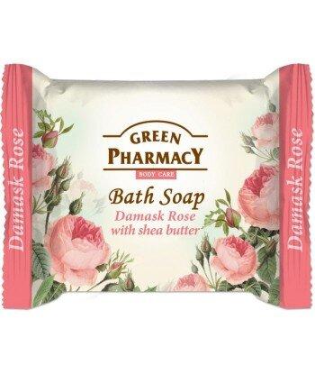 Green Pharmacy Mydło toaletowe Róża damasceńska i masło shea, 100g