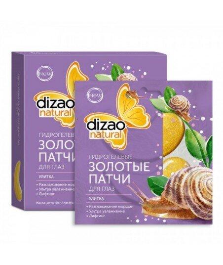 Dizao Natural - hydrożelowe złote płatki pod oczy Dizao Natural - Ślimak