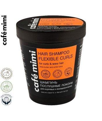CAFE MIMI Szampon do włosów kręconych i falowanych Posłuszne loki, 220 ml