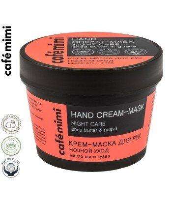 CAFE MIMI - krem maska do rąk - nocna pielęgnacja - masło Shea, ekstrakt z owoców gujawy, 110ml