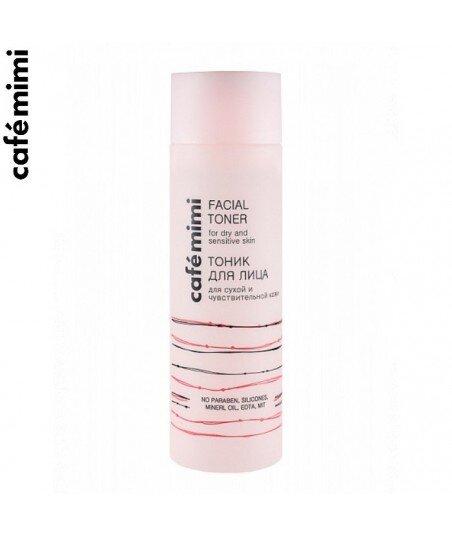 Tonik do suchej i wrażliwej skóry twarzy - Ekstrakt z irysa, Pantenol, 200 ml - CAFE MIMI