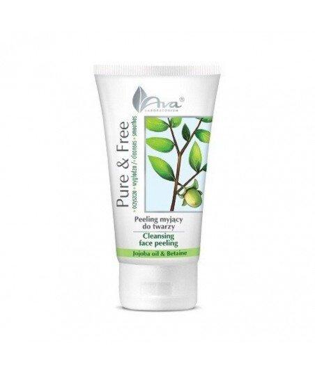 Pure & Free - peeling myjący do twarzy 150ml