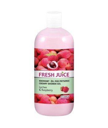 Fresh Juice Kremowy żel pod prysznic lychee & raspberry, 500ml