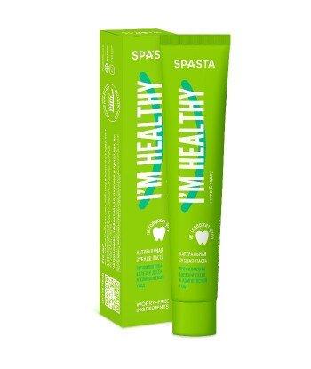 Spasta - Naturalna pasta do zębów I'M HEALTHY - zapobieganie chorobom dziąseł i kompleksowa opieka, 90 ml - bez fluoru