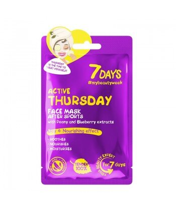 Maska do twarzy ACTIVE THURSDAY z piwonią i jagodami, 28g