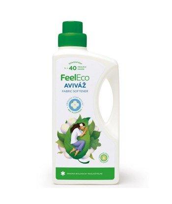 Skoncentrowany płyn zmiękczający do tkanin o delikatnym zapachu bawełny, Feel Eco, 1000ml