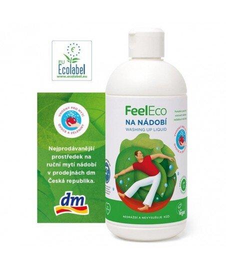 Płyn do mycia naczyń, owoców i warzyw, Feel Eco, 500ml