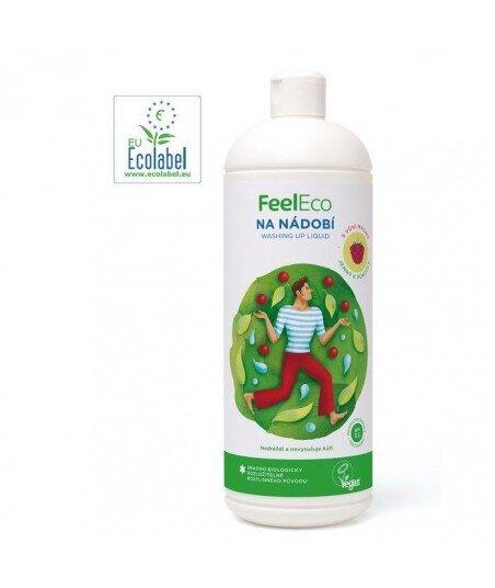 Płyn do Mycia Owoców, Warzyw i Naczyń Malinowy, Feel Eco, 1000ml