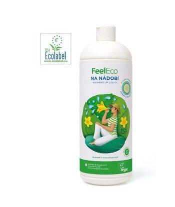 Płyn do mycia naczyń, owoców i warzyw Ogórkowy, Feel Eco, 1000ml