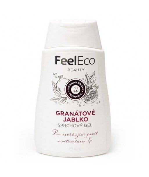 Ekologiczny żel pod prysznic o zapachu granatu, Feel Eco, 300 ml