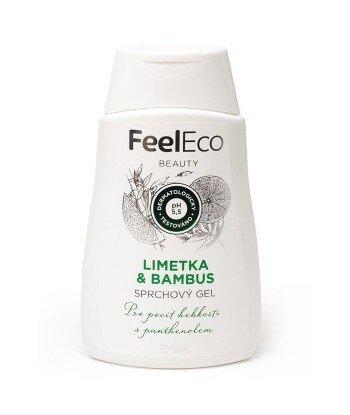 Ekologiczny żel pod prysznic o zapachu limonki i bambusa, Feel Eco, 300 ml