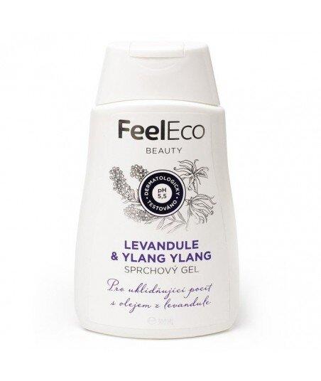 Ekologiczny żel pod prysznic o zapachu lawendy i ylang ylang, Feel Eco, 300 ml