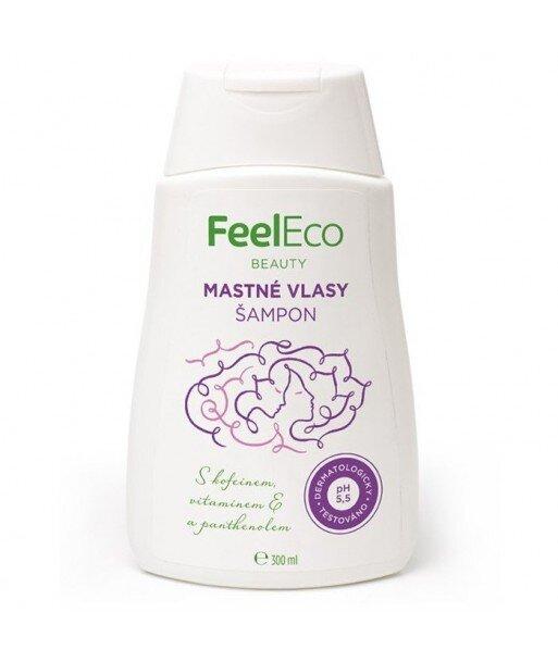 Szampon do włosów przetłuszczających się, Feel Eco, 300 ml