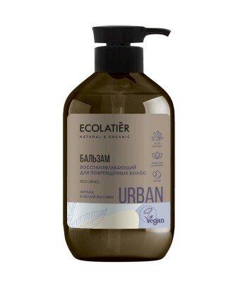 Odbudowujący balsam do włosów zniszczonych Argana i biały jaśmin, 400 ml, ECOLATIER URBAN