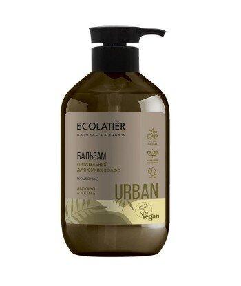 Odżywczy balsam do włosów suchych Awokado i malwa, 400 ml, ECOLATIER URBAN