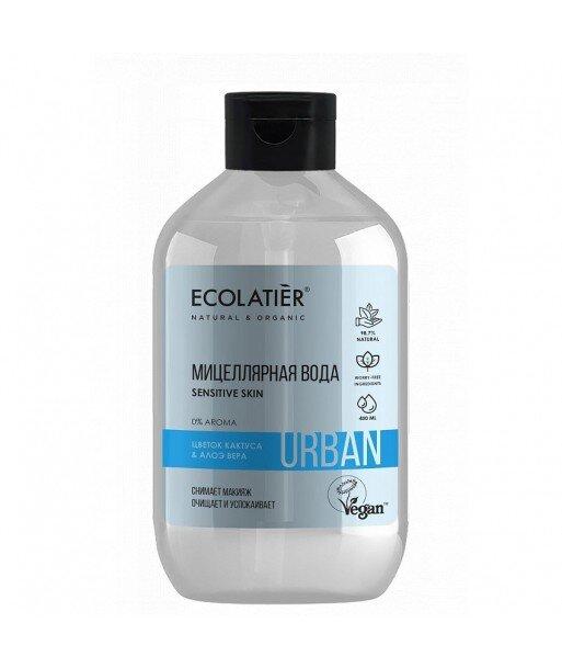 Woda micelarna do demakijażu dla wrażliwej skóry Kwiat kaktusa i aloes, 400 ml, ECOLATIER URBAN