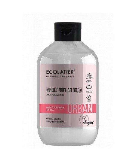 Woda micelarna do demakijażu dla wrażliwej skóry Orchidea i róża, 400 ml, ECOLATIER URBAN