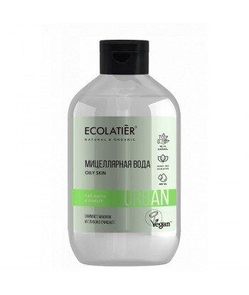 Woda micelarna do demakijażu dla wrażliwej skóry Herbata Matcha i bambus, 400 ml, ECOLATIER URBAN