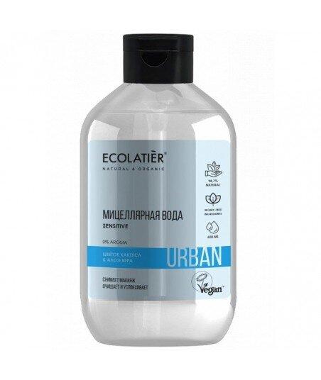 Woda micelarna do demakijażu dla wrażliwej skóry Kwiat kaktusa i aloes, 600 ml, ECOLATIER URBAN