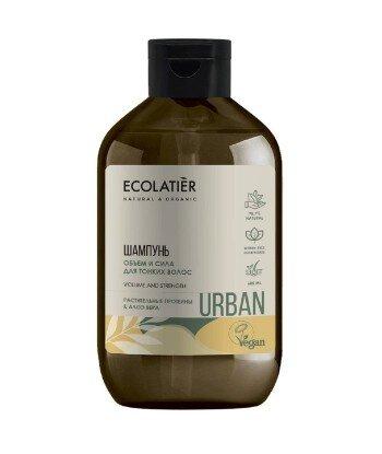 Szampon do włosów cienkich Objętość i wzrost Proteiny i aloes, 600 ml, ECOLATIER URBAN