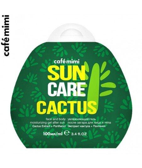 Żel nawilżający po opalaniu do twarzy i ciała Kaktus, 100 ml - CAFE MIMI
