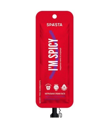 Spasta - Naturalna pasta do zębów I'M SPICY - przeciwzapalna formuła i wzmocnienie dziąseł, 30 ml - z fluorem