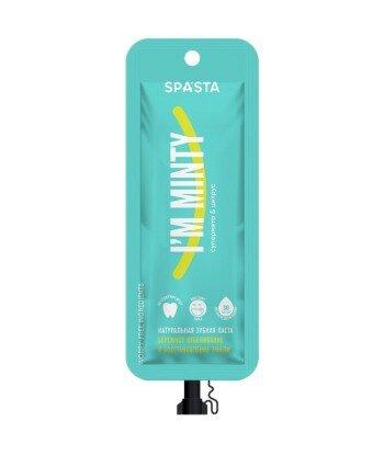 Spasta - Naturalna pasta do zębów I'M MINTY- delikatne wybielanie i odbudowa szkliwa, 30 ml - bez fluoru