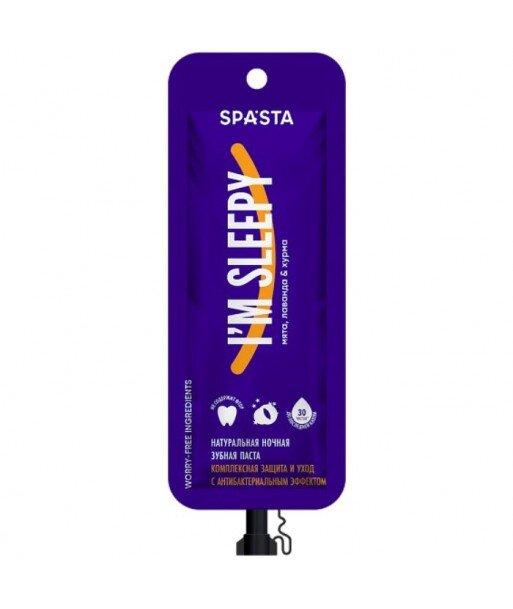 Spasta - Naturalna pasta do zębów na noc I'M SLEEPY- Kompleksowa ochrona i pielęgnacja o działaniu antybakteryjnym, 30 ml - bez