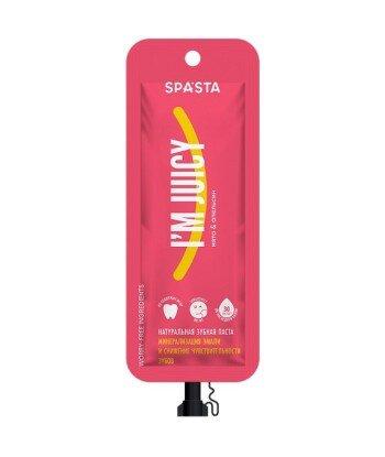 Spasta - Naturalna pasta do zębów I'M JUICY- Mineralizacja szkliwa i zmniejszenie wrażliwości zębów, 30 ml - bez fluoru