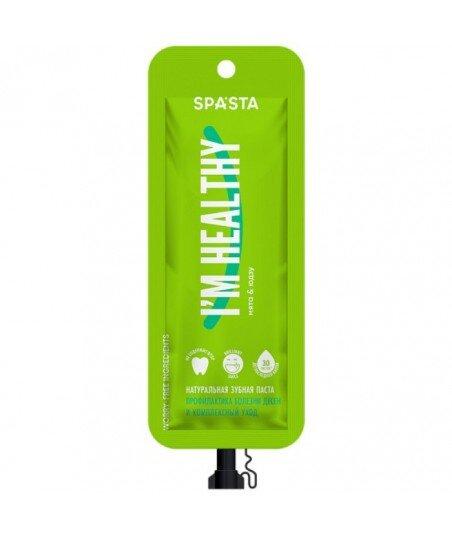 Spasta - Naturalna pasta do zębów I'M HEALTHY - zapobieganie chorobom dziąseł i kompleksowa opieka, 30 ml - bez fluoru