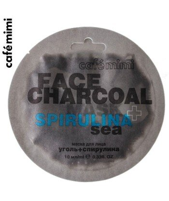 Maseczka do twarzy Bambusowy węgiel i spirulina 10 ml - CAFE MIMI