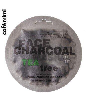 Maseczka do twarzy Bambusowy węgiel drzewny i drzewo herbaciane 10 ml - CAFE MIMI