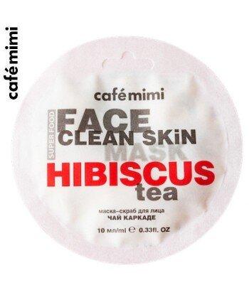 Maseczka-scrub do twarzy Hibiskus i Jaśmin 10 ml - CAFE MIMI