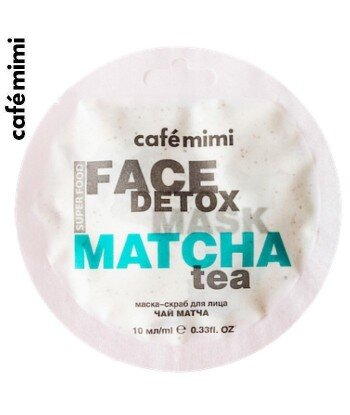 Maseczka-scrub do twarzy Matcha & Aloe Vera Herbata 10 ml - CAFE MIMI