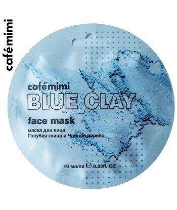 Maseczka do twarzy Niebieska glinka i drzewo herbaciane 10 ml - CAFE MIMI
