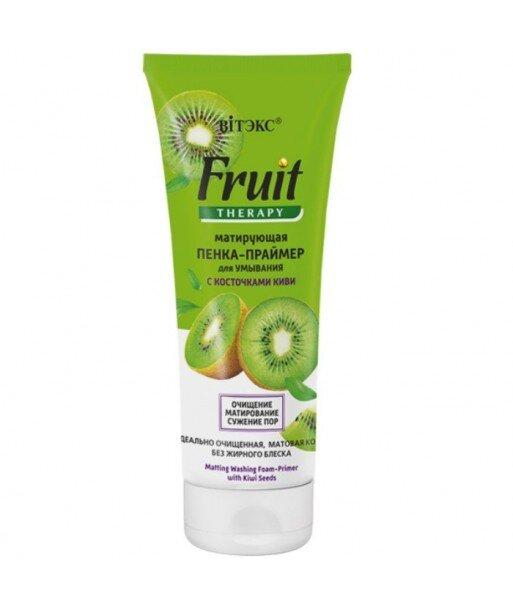 Matująca pianka podkład oczyszczająca z pestkami kiwi, 200 ml Fruit Therapy