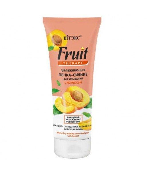 Nawilżająca oczyszczająca pianka do twarzy z morelą, 200 ml Fruit Therapy