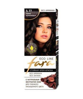 FARA Eco Line 5.77 długotrwała farba do włosów - CIEMNY BRĄZ