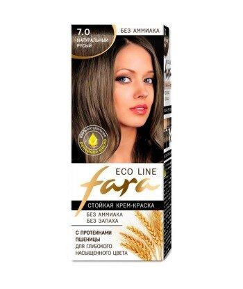 FARA Eco Line 7.0 długotrwała farba do włosów - NATURALNY BRĄZ