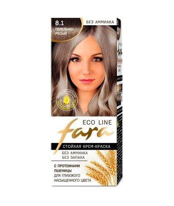FARA Eco Line 8.1 długotrwała farba do włosów - POPIELATY BLOND