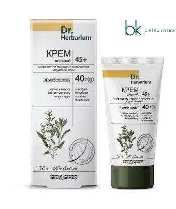 Krem na dzień 45+ Redukujący zmarszczki i zwiększający elastyczność skóry Dr. Herbarium, 220g, Belkosmex