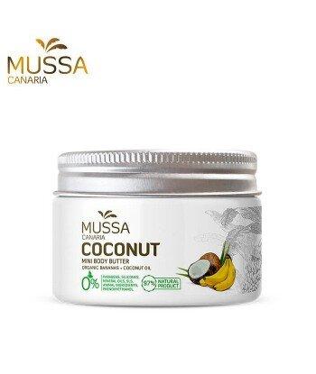 Nawilżające Kokosowe masło do ciała z ekologicznymi bananami z wysp kanaryjskich. 70ml