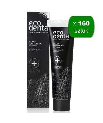 ECODENTA - PASTA DO ZĘBÓW EXTRA BLACK WYBIELAJĄCA z węglem drzewnym i TEAVIGO, 100 ml x 160 sztuk