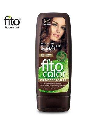Naturalny balsam KOLORYZUJĄCY do włosów - CZEKOLADA 4,3 - FITO COLOR