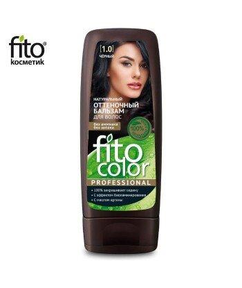 Naturalny balsam KOLORYZUJĄCY do włosów - CZARNY 1,0 - FITO COLOR