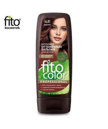 Naturalny balsam KOLORYZUJĄCY do włosów - KASZTAN 4,0 - FITO COLOR